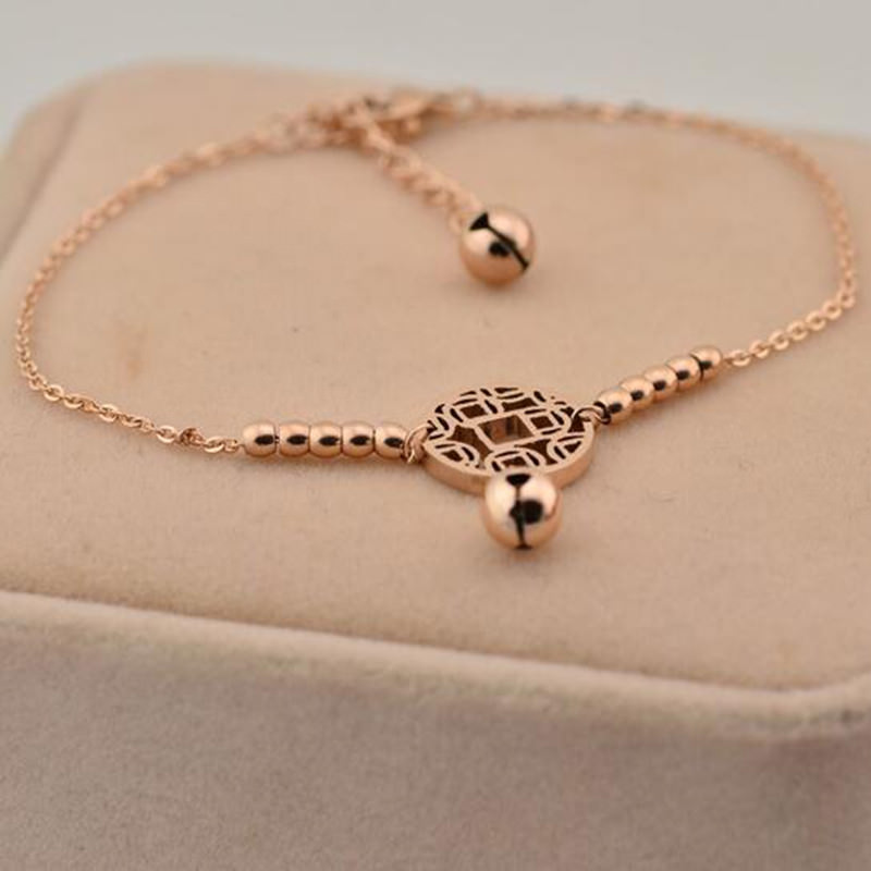 7073-db71a6e882d30d6e9ed0bb229d188b1b Rose Gold Chain Anklet Jewelry With Round Pendant And Bells