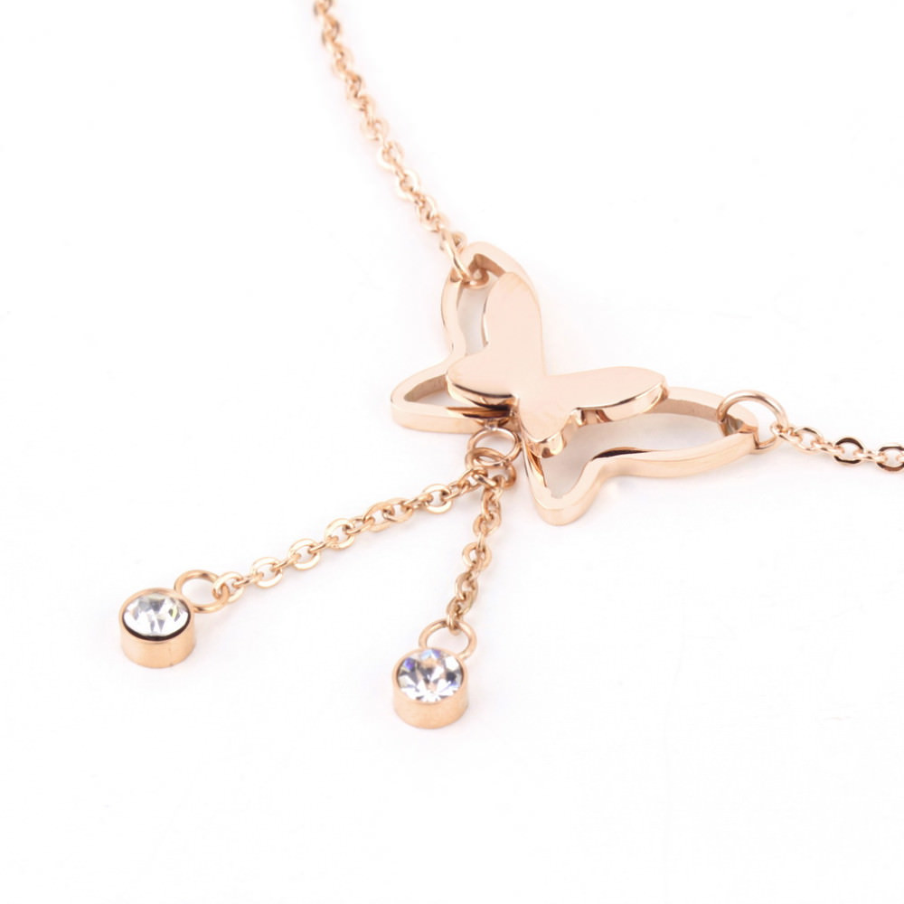 7077-351ec95852a1eefa899aed21d8e9ad57 Girly Butterfly Anklet Chain Jewelry With Rhinestone Crystals