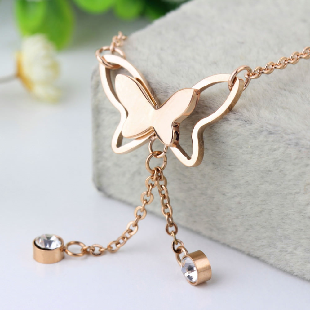 7077-d997342195b6bac89a6ac267baa51ef6 Girly Butterfly Anklet Chain Jewelry With Rhinestone Crystals
