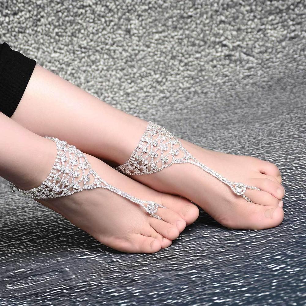 7080-28ea7eb74434b4715fc237bddb684f69 Luxurious Bridal Crystal Encrusted Barefoot Sandal Anklet Jewelry