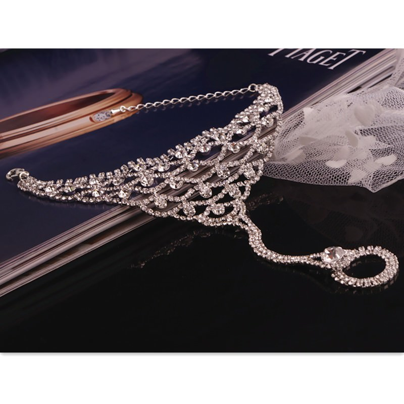 7080-5133f70dc7ce2f7a8277ac691c337da0 Luxurious Bridal Crystal Encrusted Barefoot Sandal Anklet Jewelry