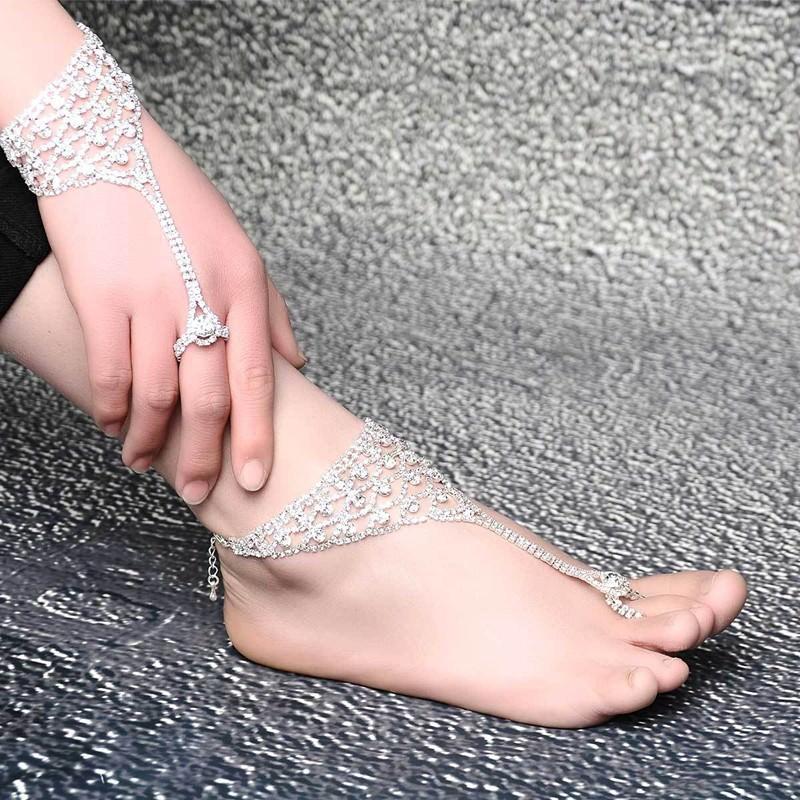 7080-6820caae4145b546618af44aa359febf Luxurious Bridal Crystal Encrusted Barefoot Sandal Anklet Jewelry