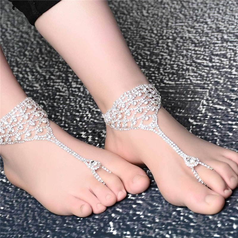7080-794754690964dc15cc930b27d2843280 Luxurious Bridal Crystal Encrusted Barefoot Sandal Anklet Jewelry