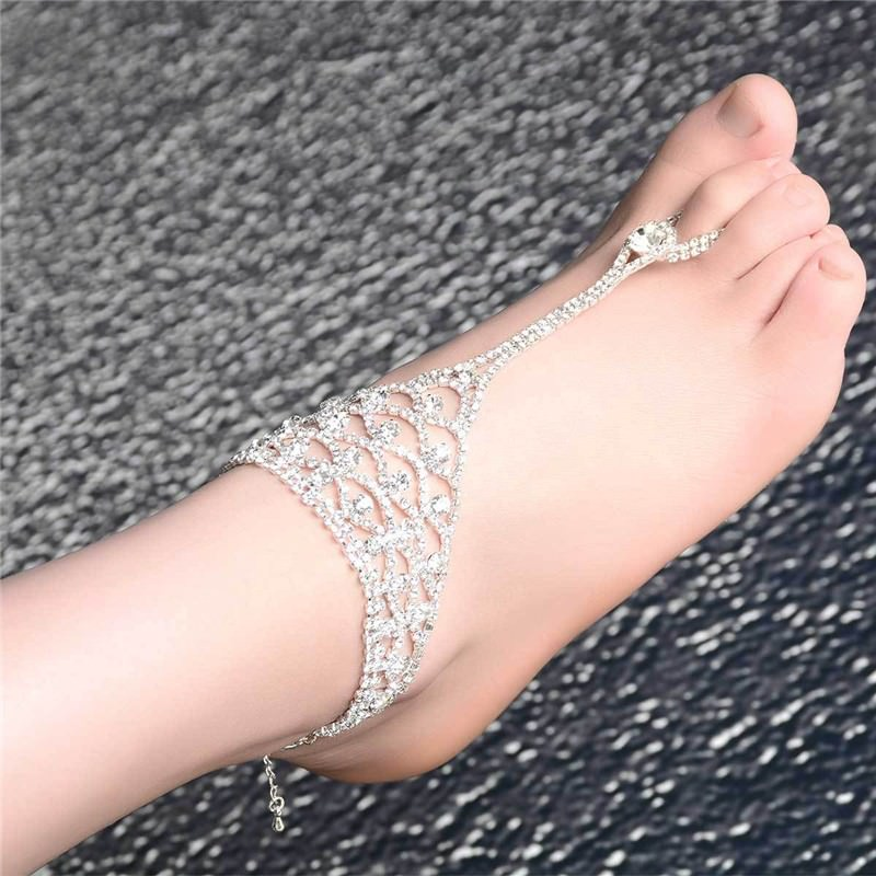7080-c393bac760620a4b03d6609292eef0fe Luxurious Bridal Crystal Encrusted Barefoot Sandal Anklet Jewelry