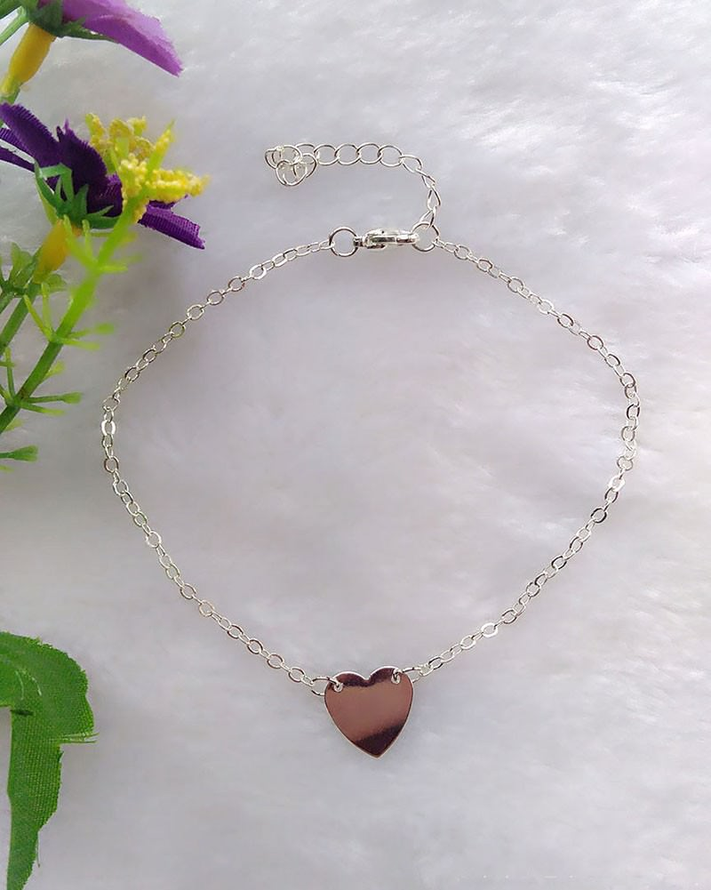 7081-d5c3e6db20835ac1818ce4be82904c9f Trendy Gold/ Silver Plated Chain Anklet Jewelry With Heart Accent