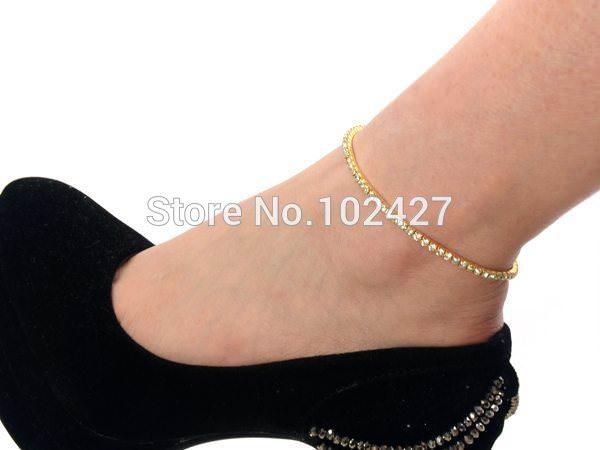 7083-178226f8246b28210179425b4056697f Stretchy Elegant Rhinestone Crystal Chain Tennis Anklet Jewelry