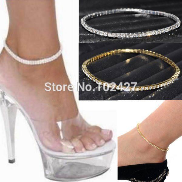 7083-3b9213168b0c106d34e0fe0a6f369040 Stretchy Elegant Rhinestone Crystal Chain Tennis Anklet Jewelry
