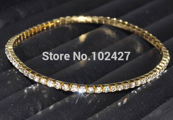 7083-a6db755396686383dab3febb51222910 Stretchy Elegant Rhinestone Crystal Chain Tennis Anklet Jewelry