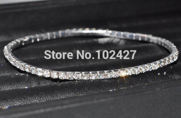 7083-c3a38618eb27642962ad36cb2b316074 Stretchy Elegant Rhinestone Crystal Chain Tennis Anklet Jewelry