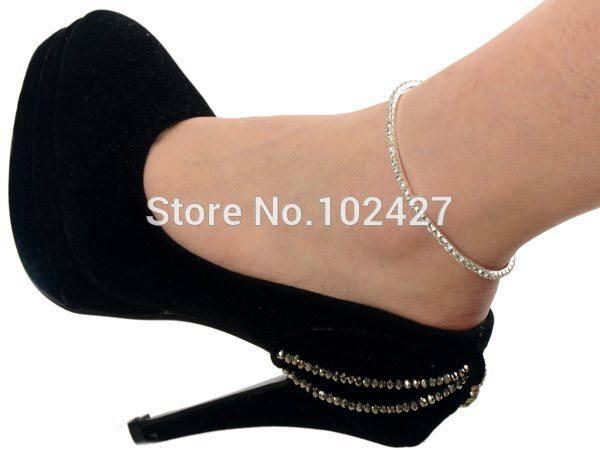 7083-c9e12266e3021c5edd5a8fe0f922d0c4 Stretchy Elegant Rhinestone Crystal Chain Tennis Anklet Jewelry