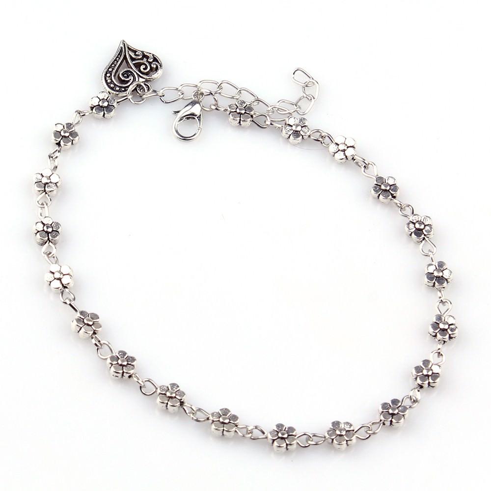 7088-972fda28fa2f0b72ea01affa309cbfe3 Silver Bead Chain Ankle Bracelet Barefoot