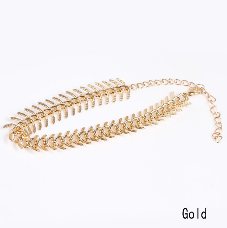 7089-df8a4c0c9eee67cdd9036dce0206c533 New Fashion Gold Plated Fish Spine Anklet Jewelry