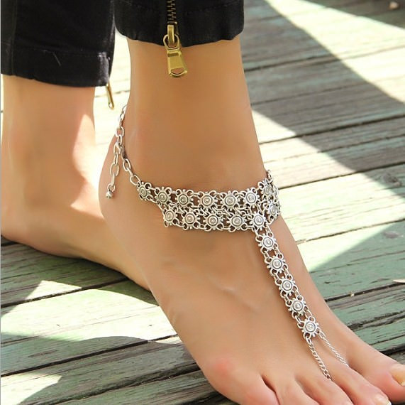 7090-9b40c045f1d30adcca6faf2c8d610c2b Bohemian Barefoot Beach Sandals Anklet Jewelry