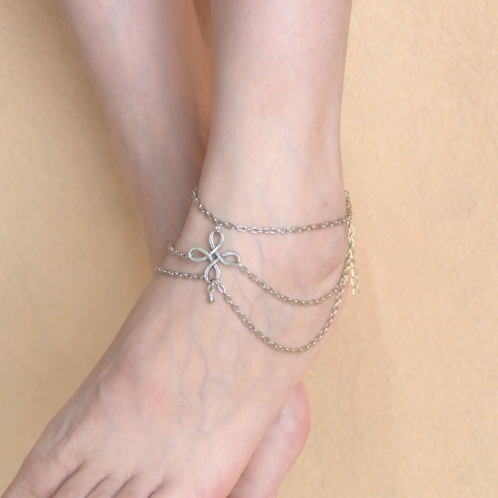 7091-72bdfa42cc912b61cb9bab25772bef2e Vintage Multi-layer Chain Anklet Jewelry With Chinese Knot Pendant