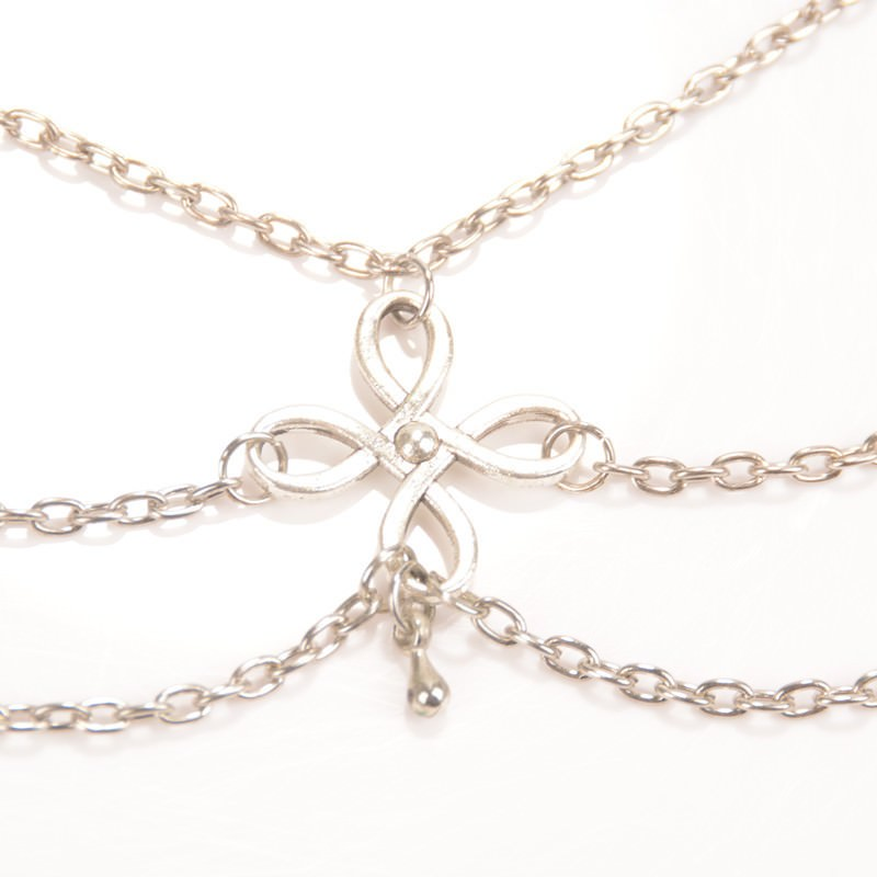 7091-f0c9932562b58d23faa0b52061ed921e Vintage Multi-layer Chain Anklet Jewelry With Chinese Knot Pendant