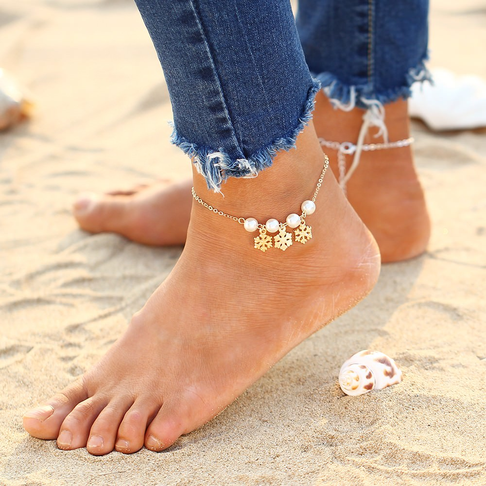 7092-57d72a64cce17e4be7ea514683ba82f8 Women's Summer Anklet Jewelry In Various Designs