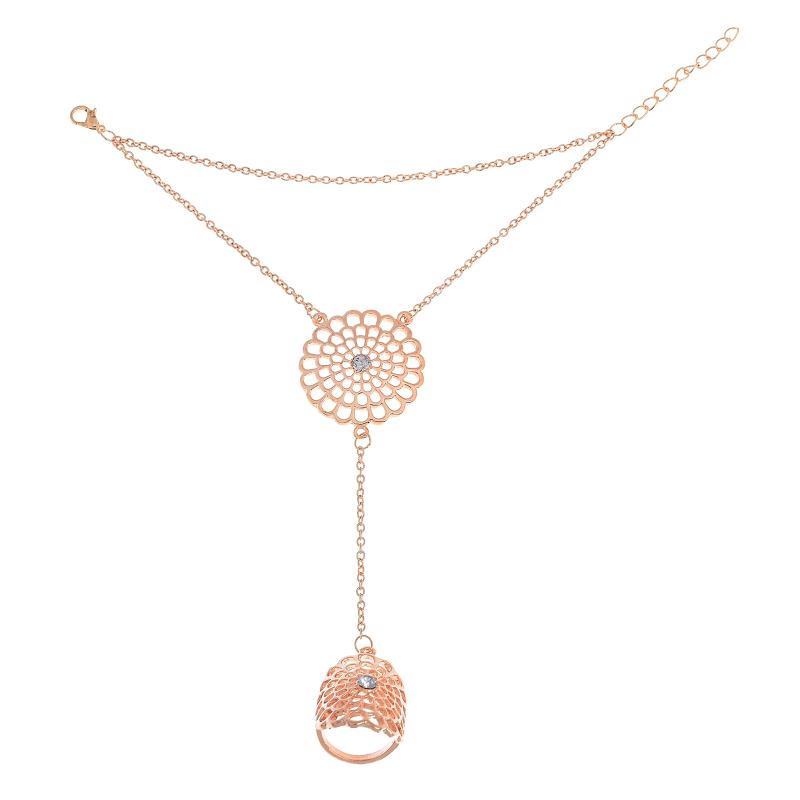 8837-16bcb07ed00ebde4d142b71b59307755 Boho Multi-layer Chain Hand Harness Jewelry With Mandala Accent