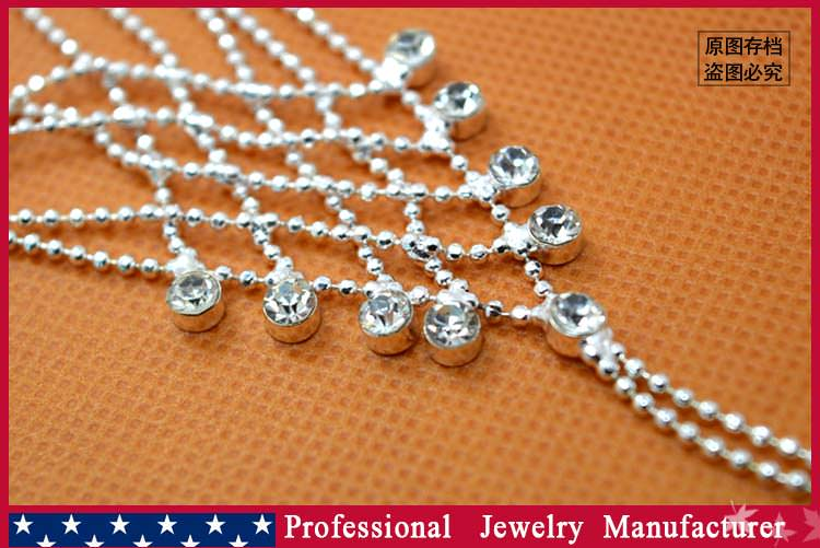 8838-5726f78dbb734c753d07eac612e1eb10 Ball Chain Hand Slave Jewelry With Lattice Design And Rhinestone Accent