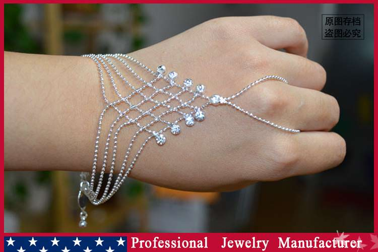 8838-7ed6d070d9052bc4ab62bd81763c8418 Ball Chain Hand Slave Jewelry With Lattice Design And Rhinestone Accent
