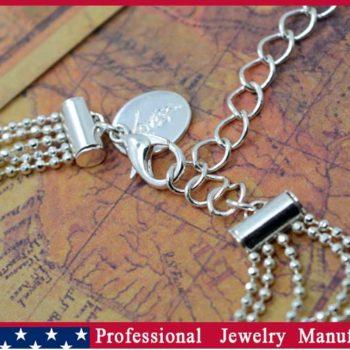 Ball Chain Hand Slave Jewelry With Lattice Design And Rhinestone Accent