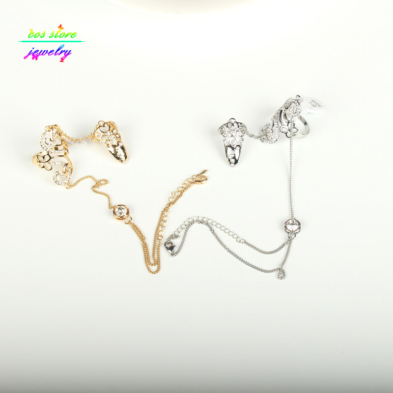 8839-325c110e05a7ba2fdef61da97a7cd27e Excuisite Floral Chain Hand Slave Jewelry With Nail Armor