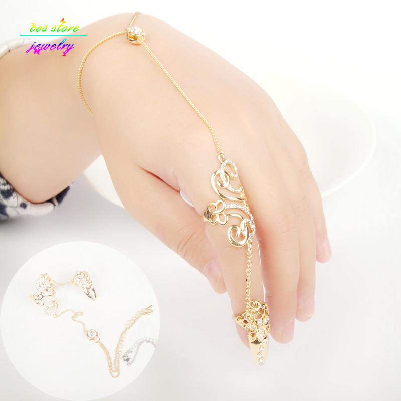 8839-548dca3d8f18707739382dc2a662dff1 Excuisite Floral Chain Hand Slave Jewelry With Nail Armor