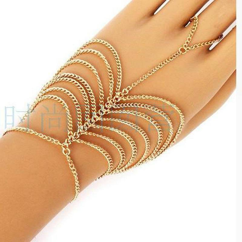8840-8d81069f4595daa9a9eac7c640a2152d Simple Multi-layer Chain Hand Slave Jewelry For Women