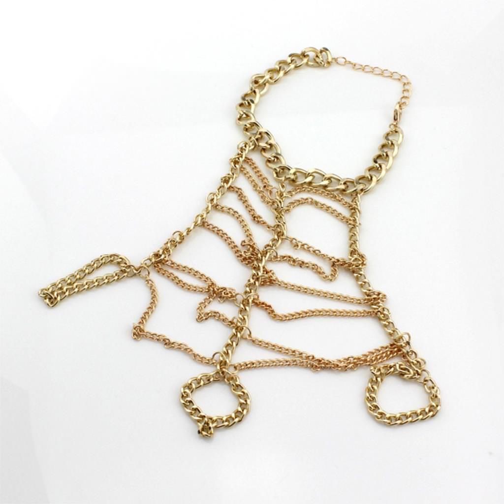 8841-97e9d9d7f23fcf845e9927027b9532d8 Trendy Ladder Chain Hand Slave Bracelet Jewelry