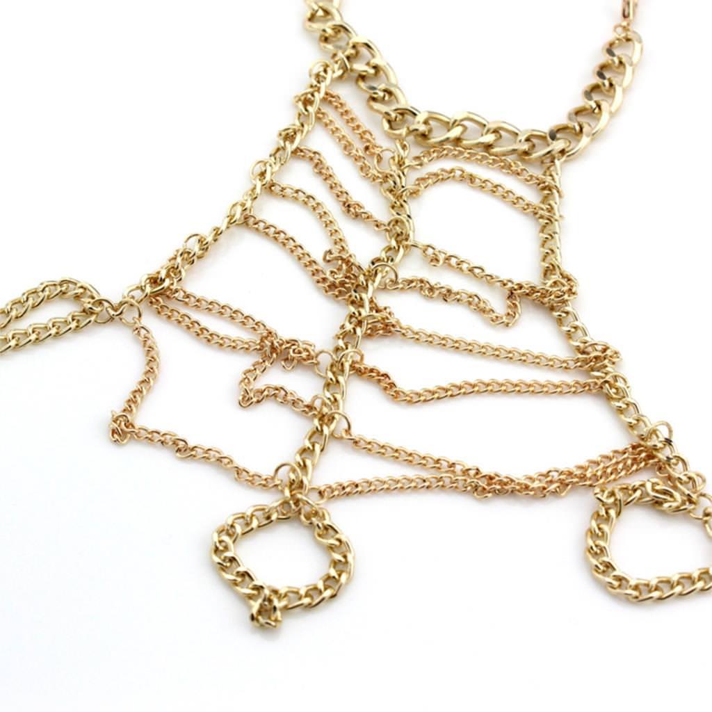8841-f347db6fa5e58caff300897f3980530b Trendy Ladder Chain Hand Slave Bracelet Jewelry