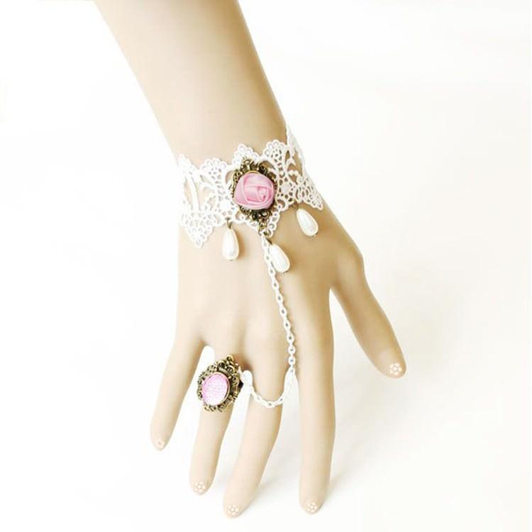 8843-e4765d85648cacddad32dd0cb081d50d Vintage White Lace Bracelet Chain Jewelry For Women