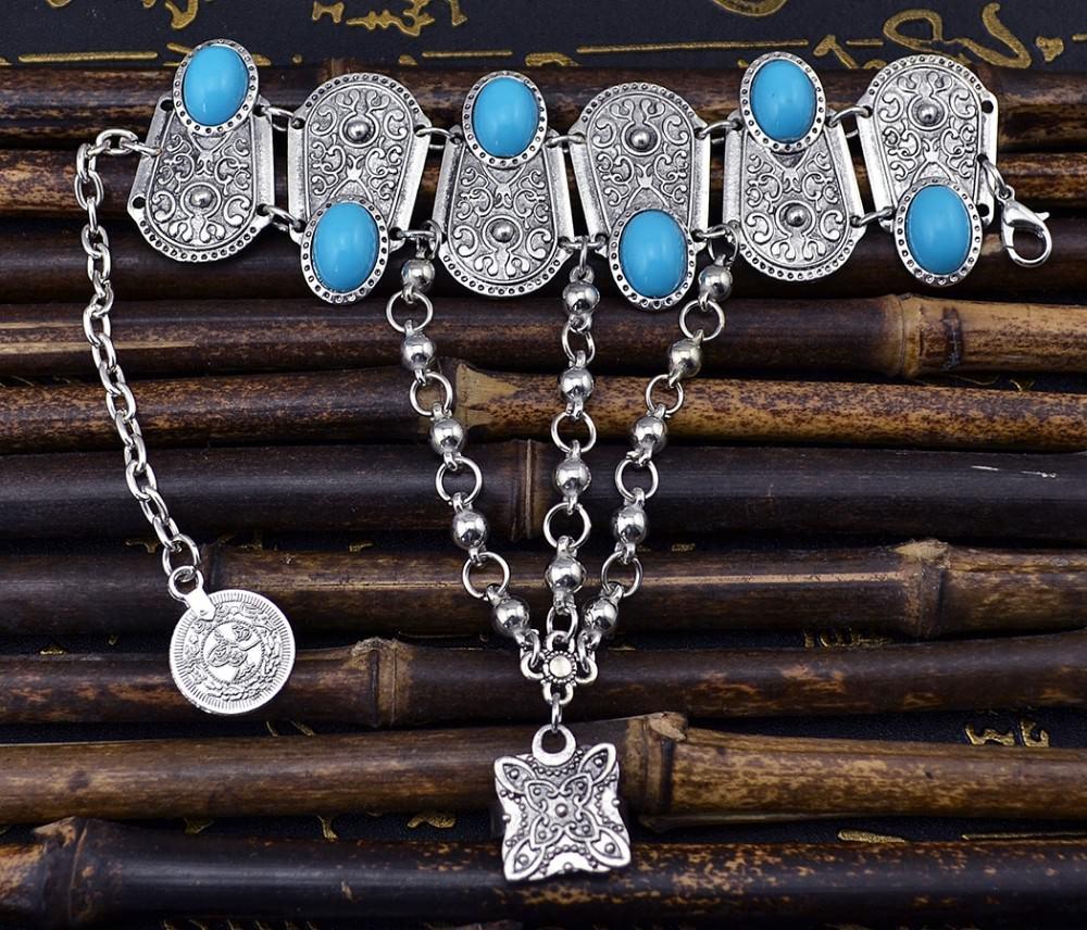 8846-7e7320d989a222e87f4327068a21fe4a Bohemian Blue Gemmed Chuny Bracelet Jewelry With Floral Designs