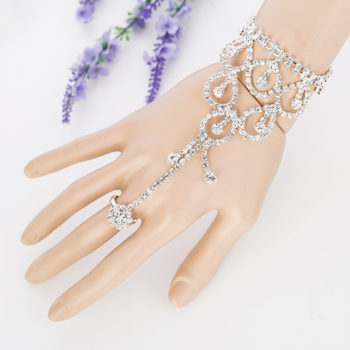 Elegant Rhinestone Slave Chain Jewelry With Dangles