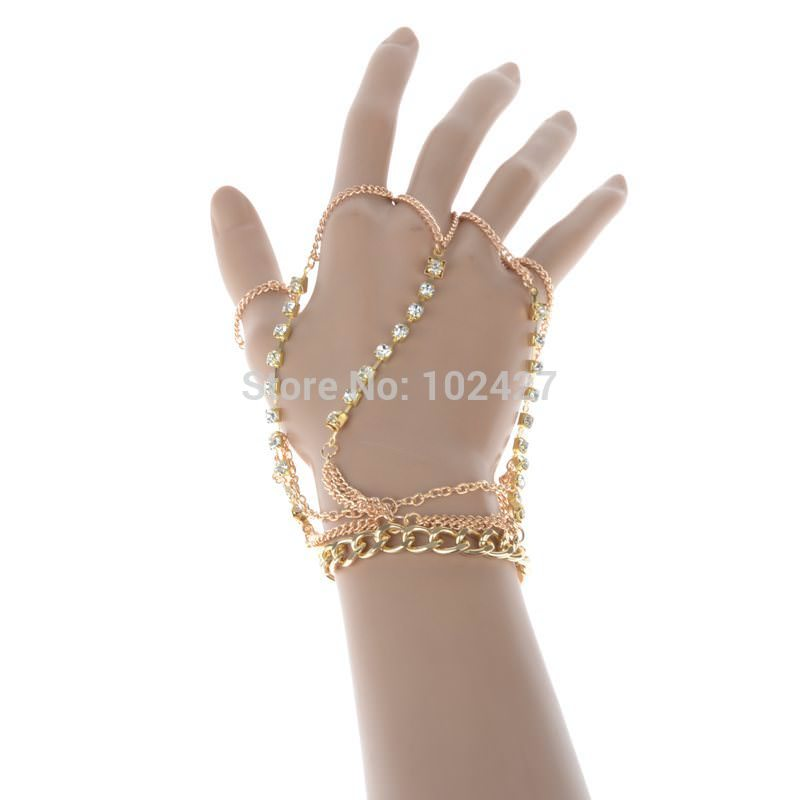 8852-177ea1a8fac36844145a36e599d32286 Luxurious Finger Slave Hand Chain Harness Jewelry With Rhinestones