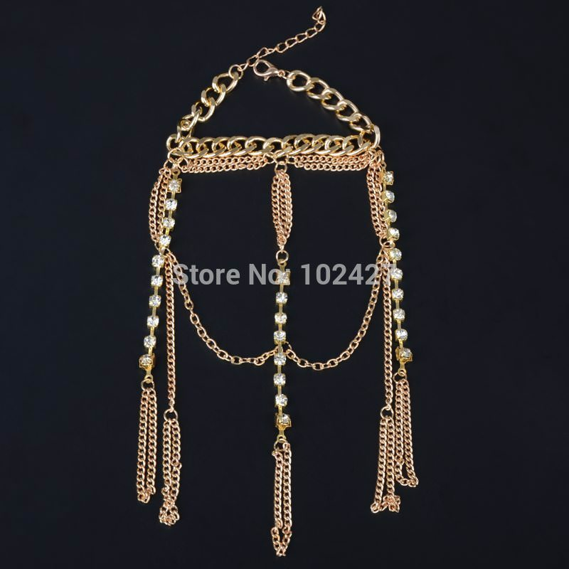 8852-96be2ac0b589b2b69707cf15fe87e611 Luxurious Finger Slave Hand Chain Harness Jewelry With Rhinestones