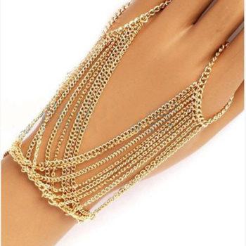 Celebrity Multilayer Tassel Hand Chain Mittens Jewelry
