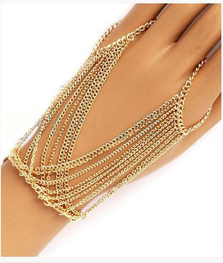 8860-7a44f29d2ee00bf439e996445d8601a5 Celebrity Multilayer Tassel Hand Chain Mittens Jewelry