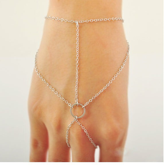 8862-ac59888d8149ae25f24252a1d07865fa Simple Geometric Chained Hand Slave Jewelry With Circular Accent