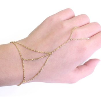 Hot Gold Plated Slave Chain Hand Jewelry Harness