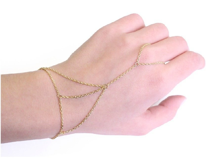 8863-003504058b0266f0764817e259650228 Hot Gold Plated Chain Hand Jewelry Harness