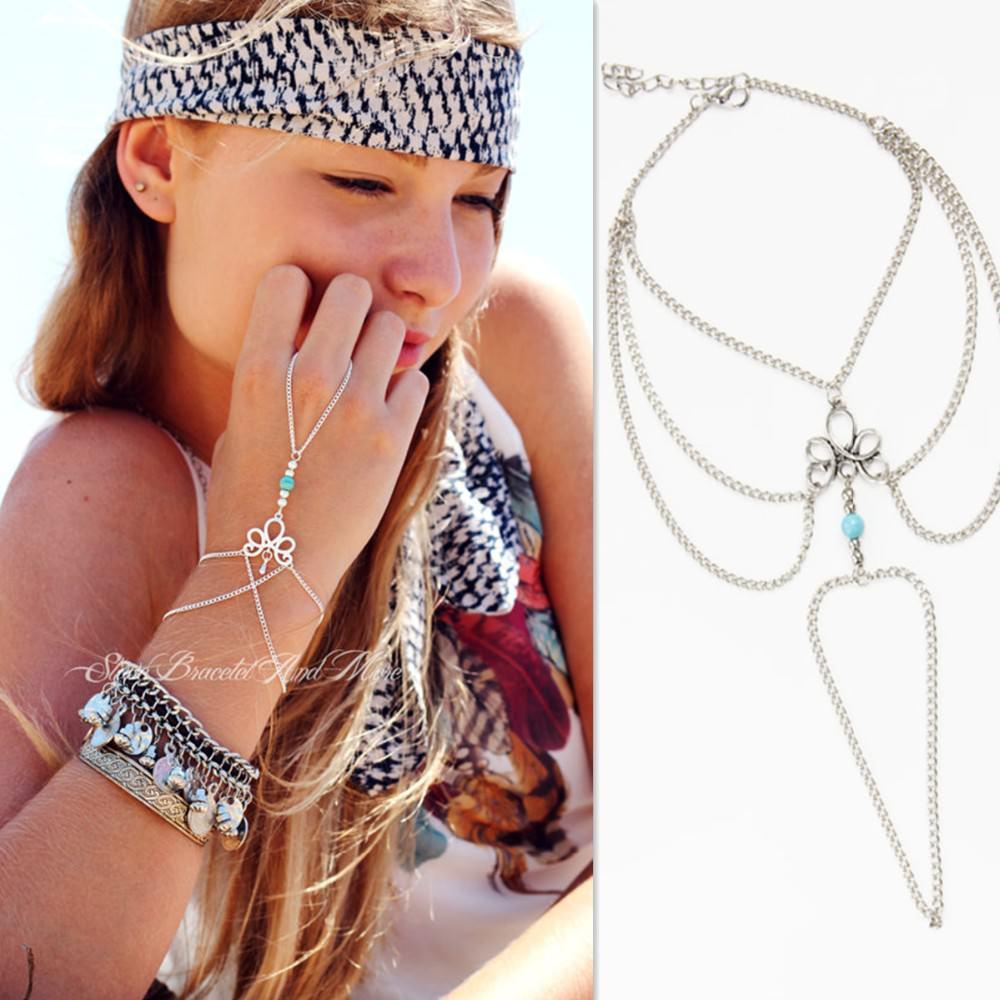 8870-6f774a068450218d8de75738c2a425fe Bohemian Hand Slave Chain Jewelry With Fleur De Lis Accent