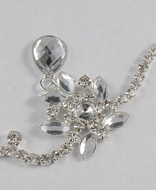 8876-cc5ec66c1adb2e8fffd0f5217c49f865 Bridal Crystal Chain Head Jewelry With Teardrop Rhinestone Pieces