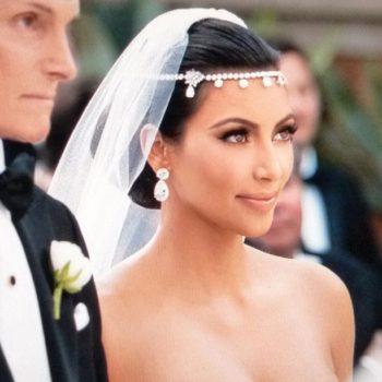 Bridal Crystal Chain Head Jewelry With Teardrop Rhinestone Pieces