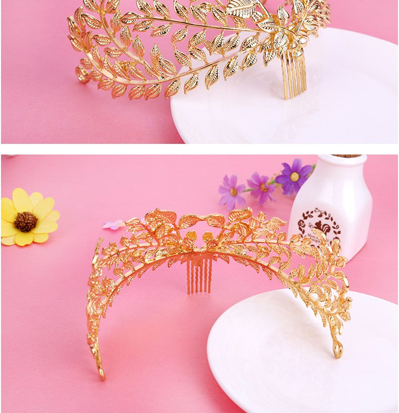 8877-b51ed91167278c249467e77aa0b50734 Vintage Athenian Golden Laurel Wreath Head Jewelry