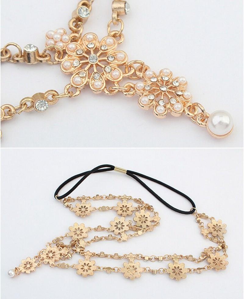 8884-0bad0f6189917e8082a987a908b4cb05 Double Layered Flower Pearl And Rhinestone Elastic Head Jewelry