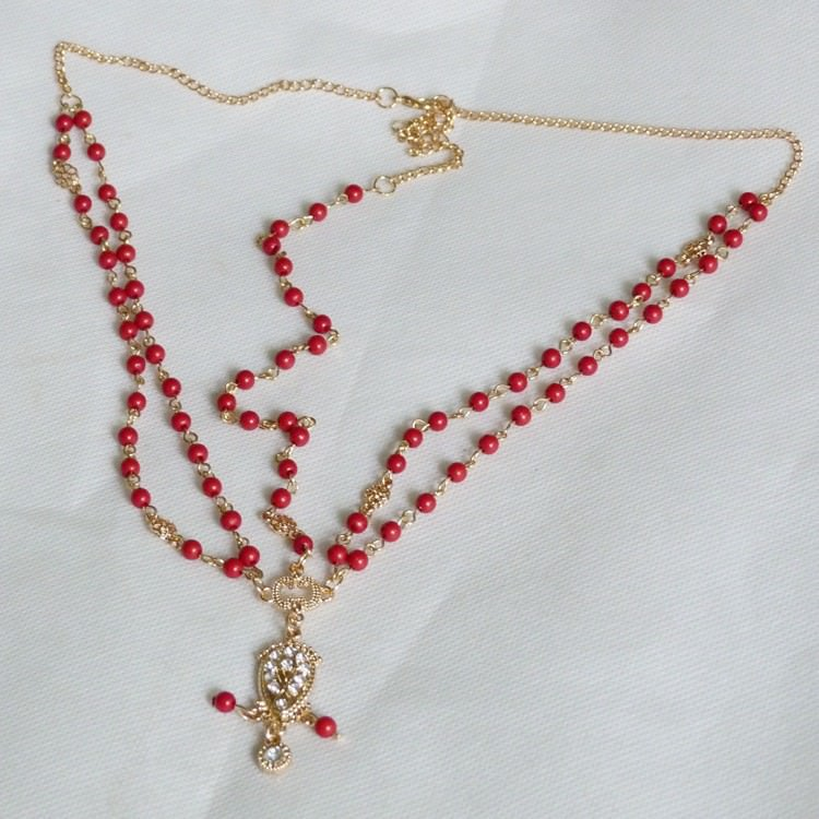 8885-cd8493191c09a16e4a8609bd4edf11b7 Boho Indian Beaded Head Jewelry Chain With Crystal Pendant
