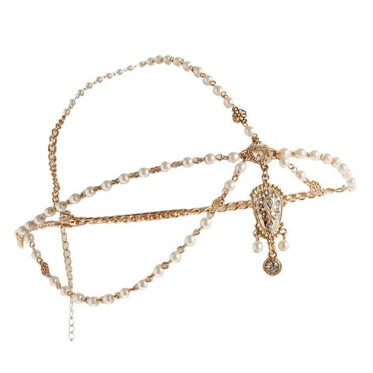 8885-e75eacdd0a81cd2515b84189813d16ad Boho Indian Beaded Head Jewelry Chain With Crystal Pendant