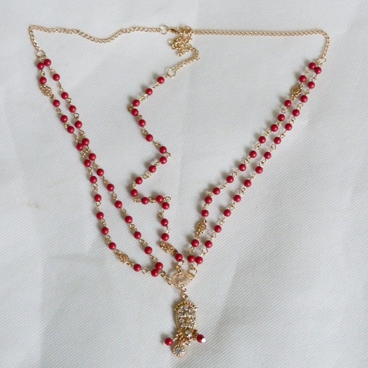 8885-f15f17fcd7cf52c441bbf16b01098404 Boho Indian Beaded Head Jewelry Chain With Crystal Pendant