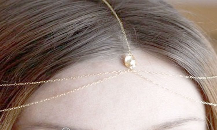 8886-8a1d284534e150cfcc945779d1b31158 Gold Bridal Bijoux Head Jewelry Chain With Accent Crystal