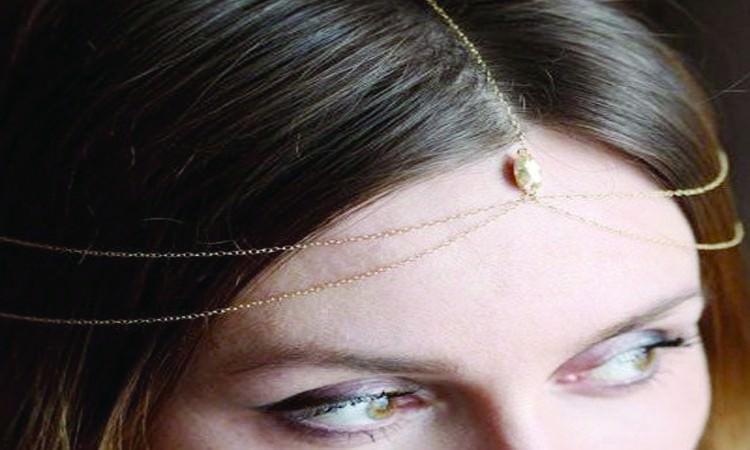 8886-dbffddafbaa7f6b8dd3bae200d2f876a Gold Bridal Bijoux Head Jewelry Chain With Accent Crystal