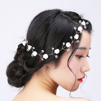 Handmade Bridal Floral And Crystal Head Jewelry
